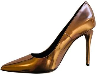 Alexander Wang Metallic Leather Heels