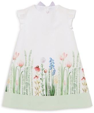Il Gufo Flower Garden A-Line Dress (3 Months - 4 Years)
