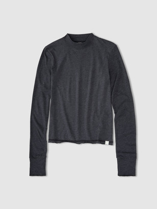 Jason Scott L/S Mock Neck - Charcoal