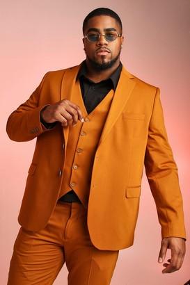 BoohoomanBoohooMAN Mens Yellow Big & Tall Skinny Fit Suit Blazer, Yellow