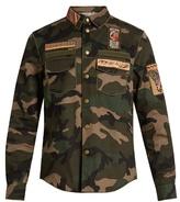 Valentino Cigar-box Appliqué Camouflage-print Cotton Jacket