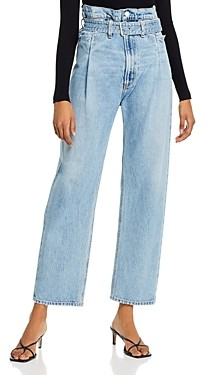AGOLDE Cotton Paperbag-Waist Jeans in Revival