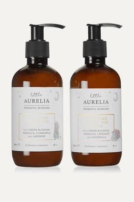 Aurelia Probiotic Skincare Net Sustain Little Aurelia Sleep Time Top To Toe Wash & Cream, 2 X 240ml