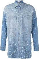 Faith Connexion long jewel embellished shirt - men - Cotton/Polyester/Spandex/Elastane/glass - XS