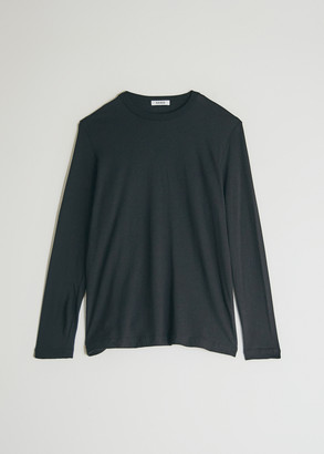 Need Women's Long Sleeve Dye T-Shirt in Black, Size Extra Small | 100% Cotton