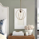 clear Interlude 1-Light Single Globe Pendant Hubbardton Forge Finish: Mahogany, Shade Color: Seeded Clear, Size: Medium
