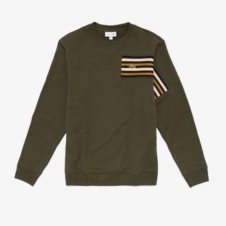 Lacoste Men's Striped Panel Cotton Fleece Sweatshirt