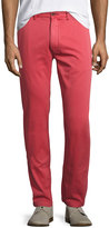 Faherty Chino Straight-Leg Beach Pants, Red