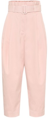 Zimmermann Wavelength cotton-blend paperbag pants