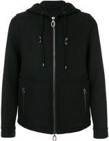 Lanvin hooded jacket - men - Cotton/Calf Leather/Viscose/Virgin Wool - 48