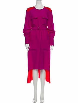 Chloé Silk Long Dress Purple