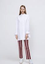 Ports 1961 white button sleeve shirt
