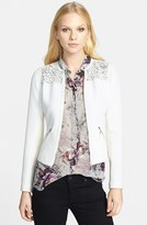 Lace Yoke Quilted Jacket