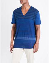 Etro Stripe-print Linen T-shirt