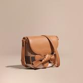 Burberry Canvas Check Leather Crossbody Bag