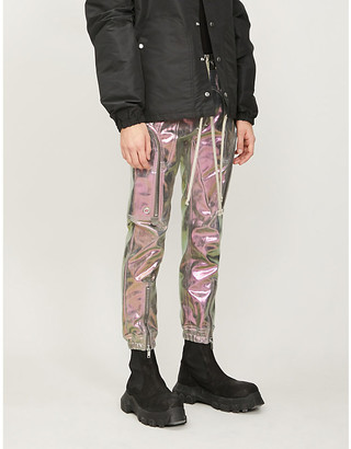 Rick Owens Metallic cotton-blend jogging bottoms