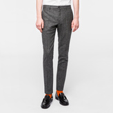 Paul Smith Men's Slim-Fit Grey Salt-And-Pepper Wool Trousers