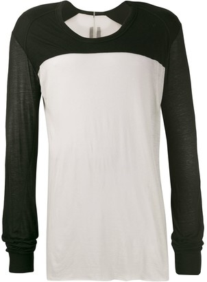Rick Owens colour block long sleeve T-shirt
