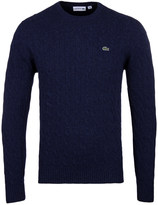 Lacoste Royal Blue Seamless Cable Knit Sweater