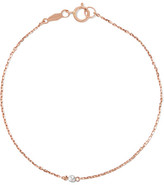 Catbird - Tiny Corsage 14-karat Rose Gold Diamond Bracelet