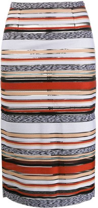 MRZ Striped Pencil Skirt