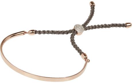 Monica Vinader Fiji rose gold-plated diamond bracelet