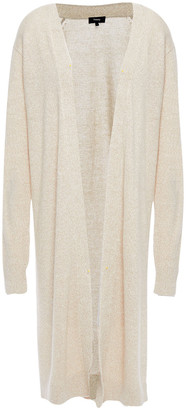 Theory Melange Linen-blend Cardigan