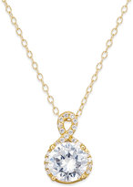 Giani Bernini Cubic Zirconia Infinity Pendant Necklace in 18k Gold-Plated Sterling Silver and Sterling Silver, Only at Macy's