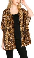 Brown Leopard Print Open Cardigan - Plus Too