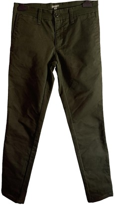 Carhartt Wip Khaki Cotton Trousers for Women