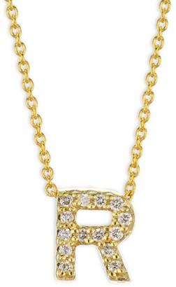 Roberto Coin Tiny Treasures Diamond & 18K Yellow Gold Initial Necklace