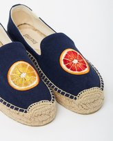 Soludos Blood Orange Platform Smoking Slippers