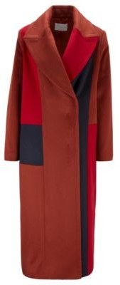 HUGO BOSS Relaxed-fit coat with Italian zibeline finishing