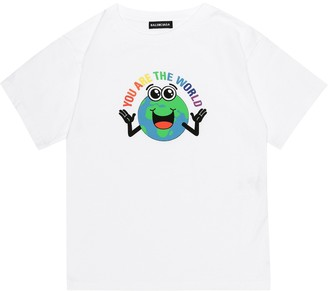 Balenciaga Kids Printed cotton T-shirt