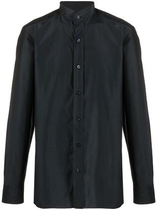 Tom Ford Band-Collar Sateen Shirt