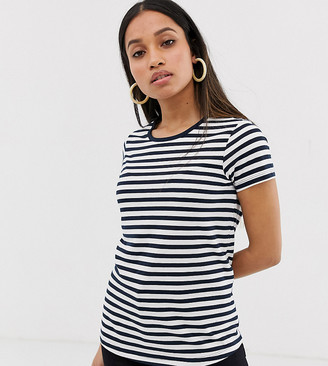 Asos DESIGN Petite t-shirt with crew neck in stripe