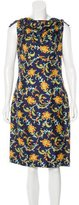 Oscar de la Renta Resort 2016 Printed Silk Dress w/ Tags