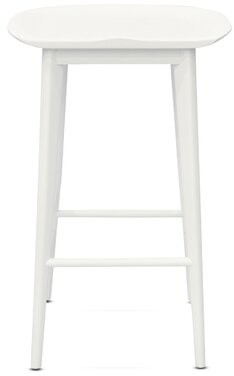 """Laurel Foundry Modern Farmhouse Jaxon Solid Wood Bar & Counter Stool Color: White, Seat Height: Bar Stool (30"""" Seat Height)"""