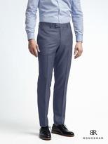 Banana Republic Slim Monogram Bright Blue Wool Suit Trouser