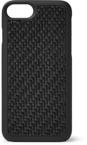 Ermenegildo Zegna Pelle Tessuta Leather Iphone 7/8 Case