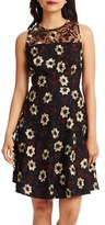Donna Morgan Floral Embroidered Fit & Flare Dress