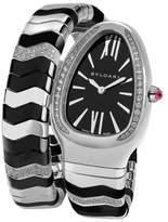 Bulgari Bvlgari Serpenti Spiga Black SP35BSDBCSD1.1T Diamond Watch