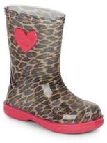 Igor Girl's Cheetah Patterned Rain Boots
