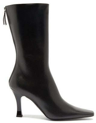 The Row Office Zipped Leather Boots - Black