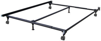 Glenwillow Home Insta-Lock Adjustable 6-Leg Bed Frame With Nylon Rollers