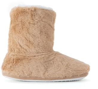 La Redoute Collections Faux Fur Slipper Boots