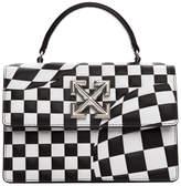 Off-White Off White Black and White Check Jitney 1.4 Bag