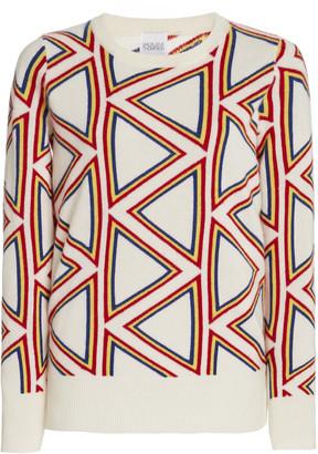 Madeleine Thompson Women's Triangle Jacquard-Knit Cashmere Sweater - White - Moda Operandi