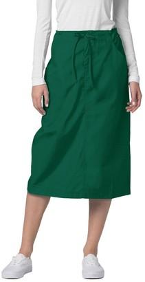 Adar Uniforms Adar Universal Scrub Skirts for Women - Mid-Calf Drawstring Scrub Skirt - 707 - Navy - 14