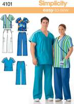 Simplicity Sewing Pattern 4101 Plus Size Scrubs, AA (Small - Medium - Large)
